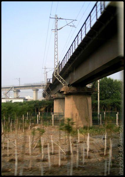 voies de chemin de fer de Chine grande vitesse et petite vitesse 00