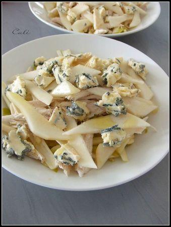 Salade d'Endives au Poulet, Poire & Bleu 001