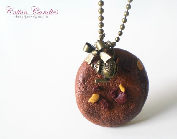 Collier gros cookie chocolat tea time 03