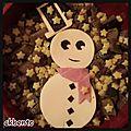 Bento « bonhomme de neige »