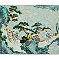 A famille-rose 'immortals' plaque, qing dynasty, 18th century