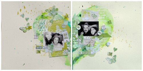 Collage coeur - janvier 13