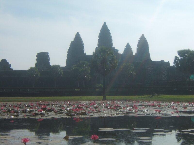 Angkor Vat à contre jour.