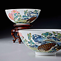 The hobart quail bowls offered at bonhams sale of chinese works of art