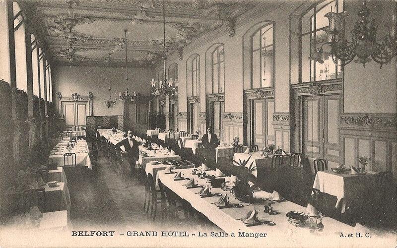 Belfort CPA Rue Reiset n°1 Grand Hôtel Salle à manger 2s