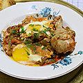 Chakchouka de courgettes au poulet