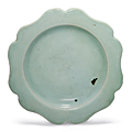 A small Longquan celadon foliate dish, Southern Song dynasty (1127-1279)