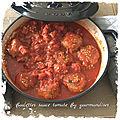 Boulettes sauce tomate ( 288 cal/ par personne)