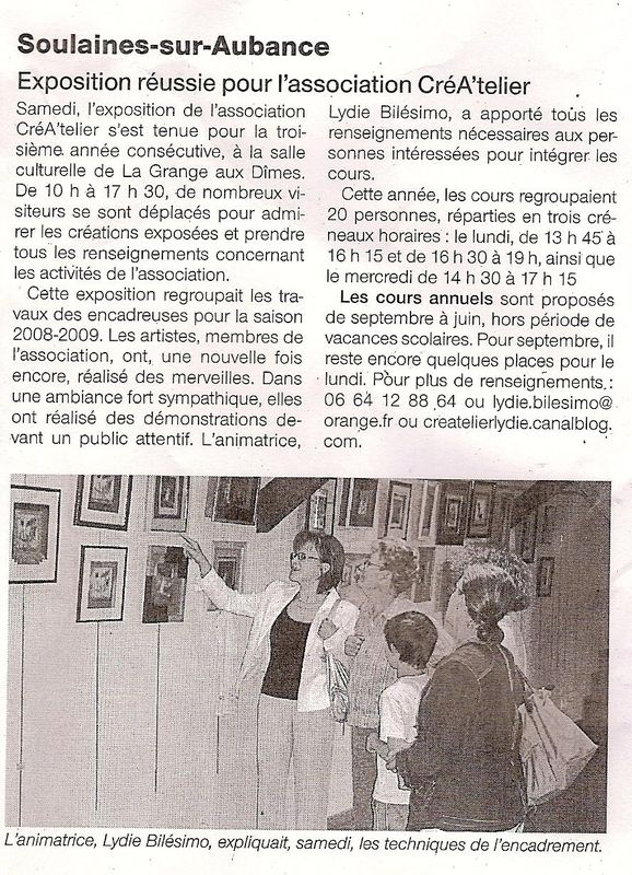 Expo Soulaines 2009