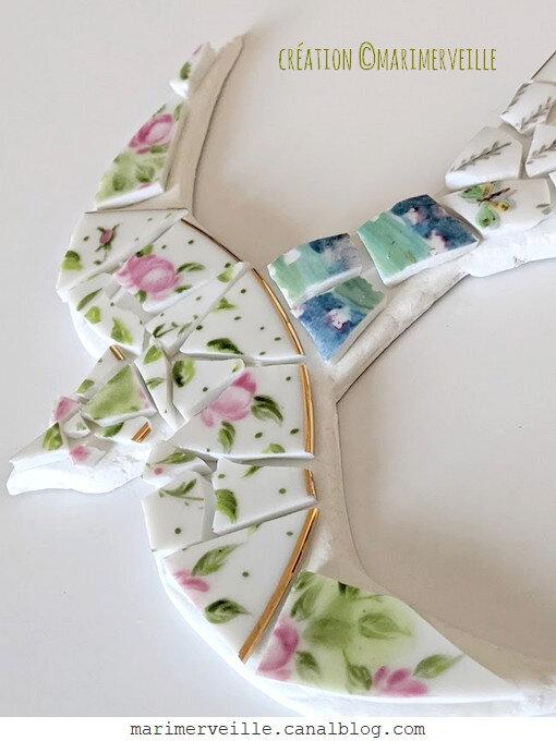 hirondelle mosaïque disposer les morceaux avant collage -© marimerveille