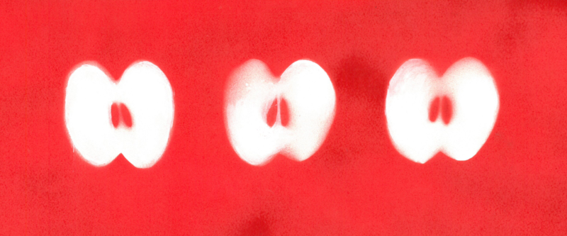pomme pochoir