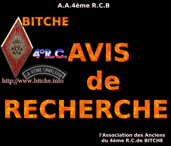 AVIS de RECHERCHE 002