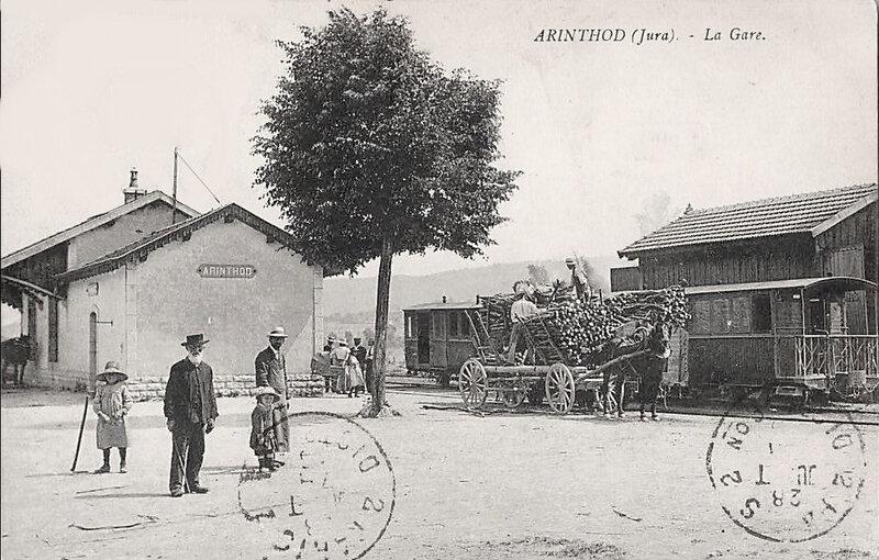 arinthod-la-gare-et-le tramway-bifurcation-arinthod