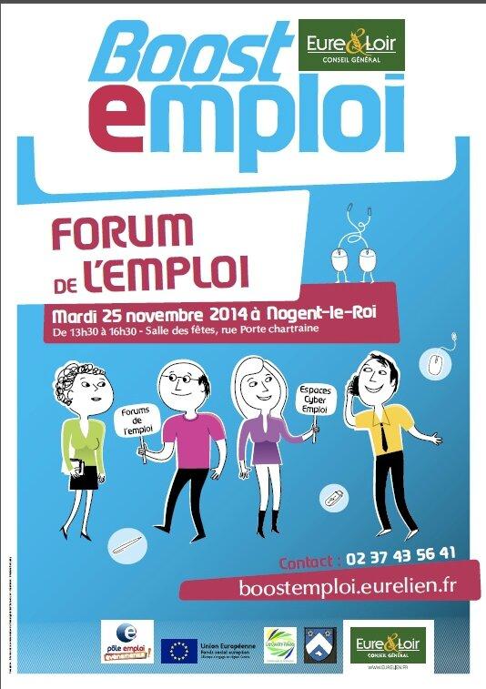 FORUM DE L'EMPLOI A NOGENT-LE-ROI avec BOOST EMPLOI, le 25 novembre