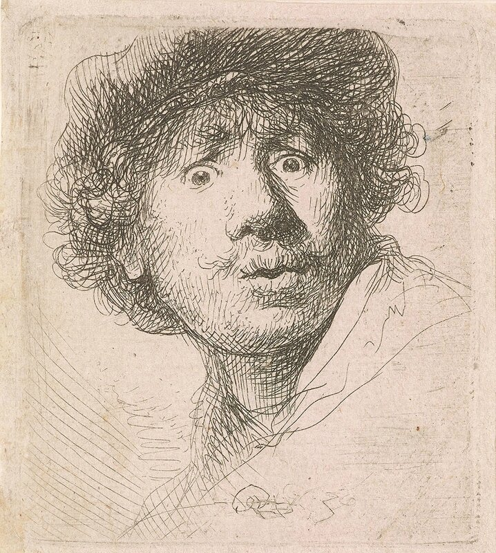 7-Self-Portrait-in-Cap-Open-Mouthed