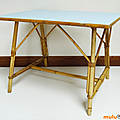 Petit mobilier ... table en rotin * louis