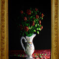 015-Nature morte les roses rouges