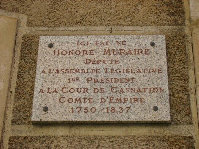 Plaque Honoré Muraire