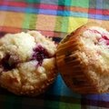 Muffins crumble aux framboises