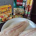 Filet de panga en crumble de chorizo