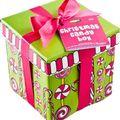 Cadeau boite de bonbons à bulles