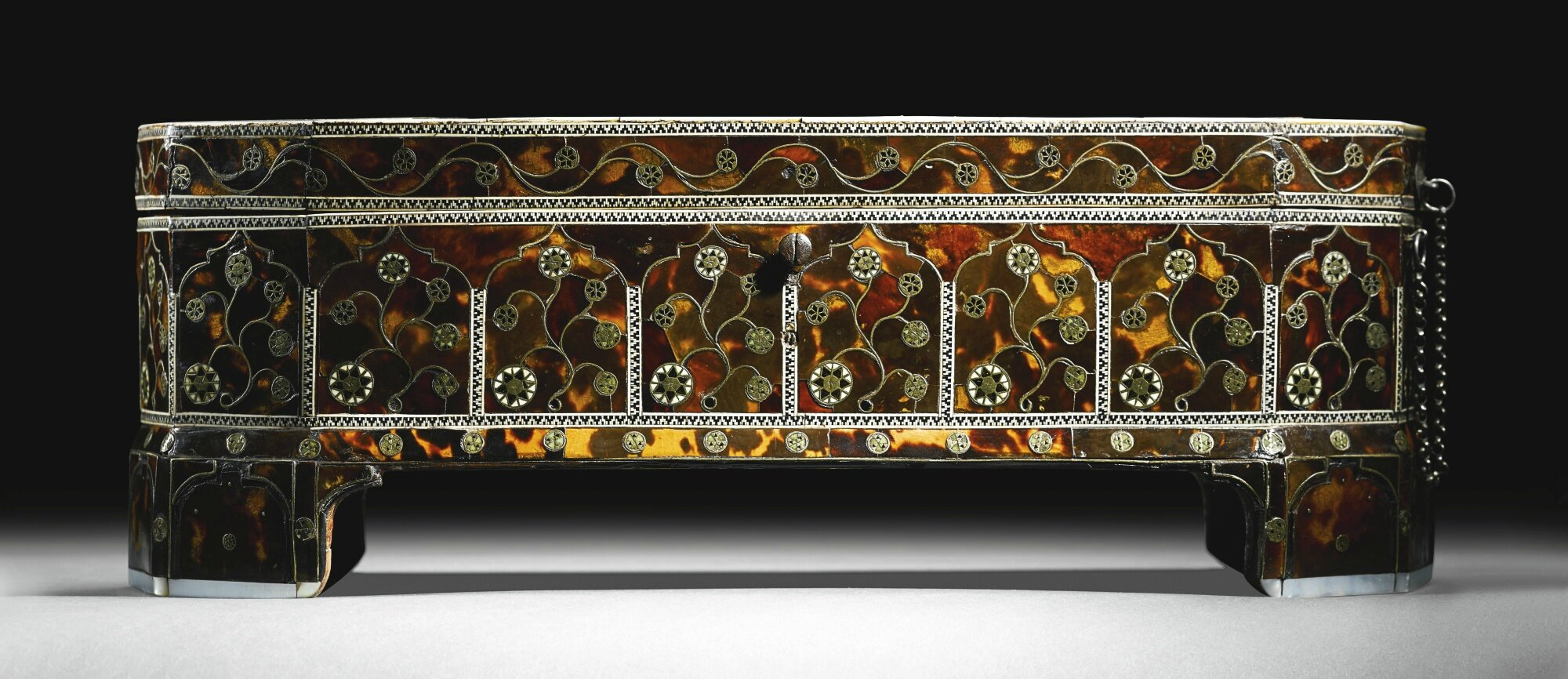 A Magnificent Ottoman Tortoiseshell Mother Of Pearl
