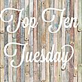 Top ten tuesday #7