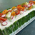 Sandwich cake concombre saumon radis