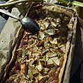 Tarte à la rhubarbe et à la pistache