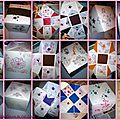 Boîtes réalisées en ateliers