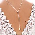 A l'atelier - bijoux mariage - colliers de dos