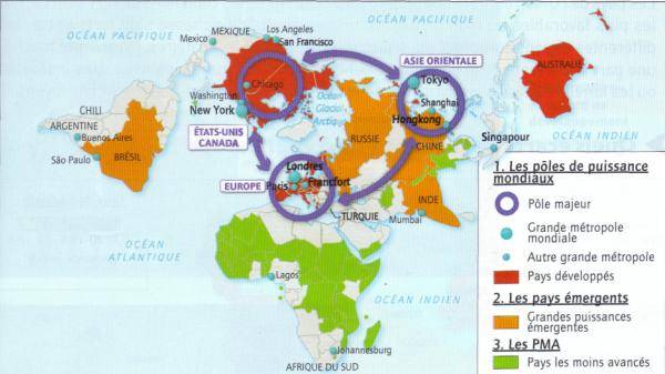 Les pôles de puissance mondiaux