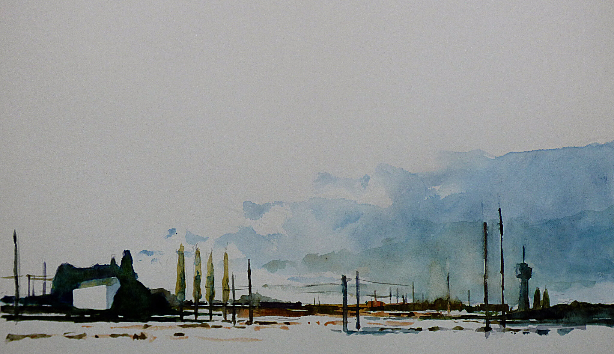 k nowhere 85, sept 2017, aquarelle, 41 x 25 cm