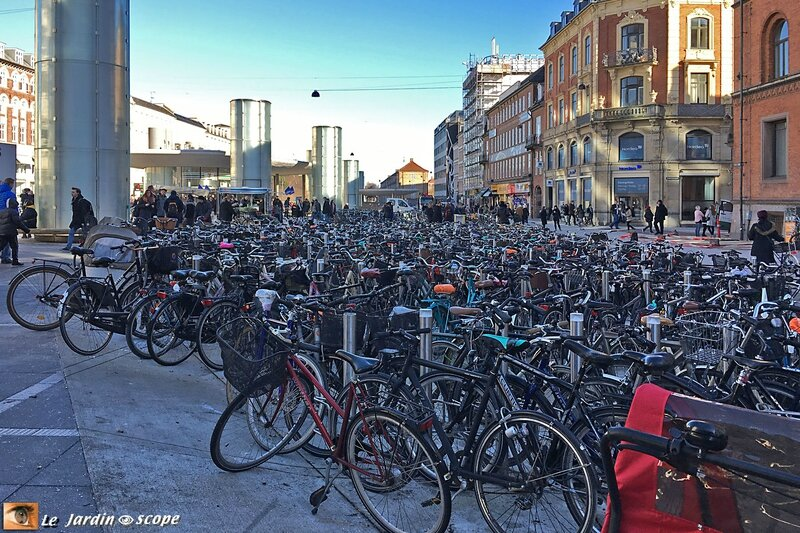 Parking à bicyclettes à Copenhague
