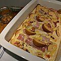 Endives au jambon à la savoyarde (reblochon, noix et pommes)