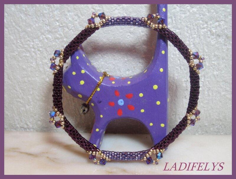 636b bracelet quadrati façon pucca violet
