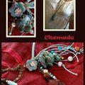 chamadine sautoir bleu