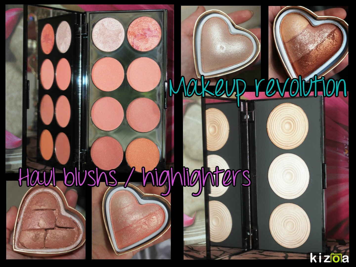 Haul blushs & highlighters makeup revolution.