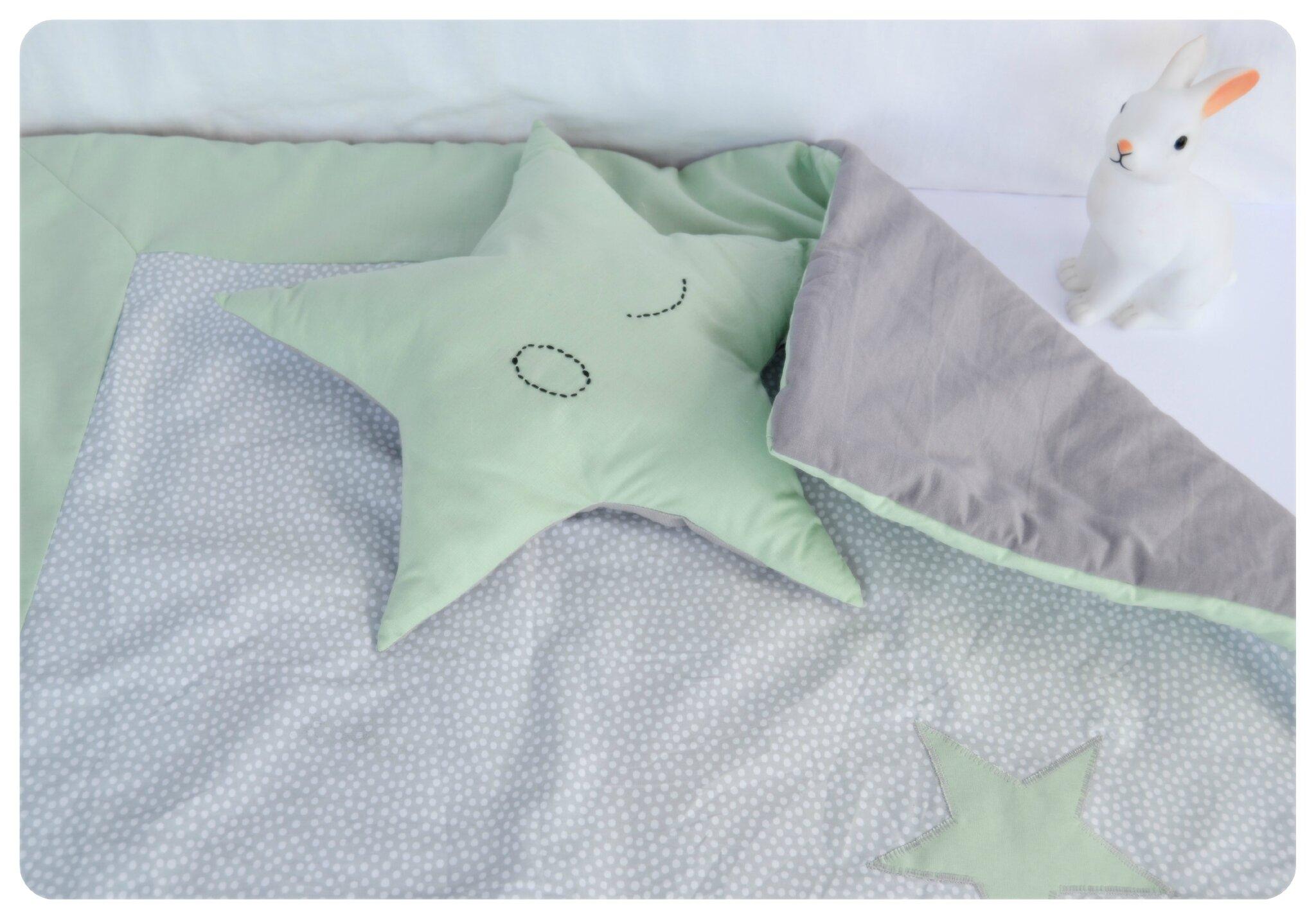 couverture pois gris5