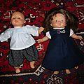 Günila et eliette pour poupée