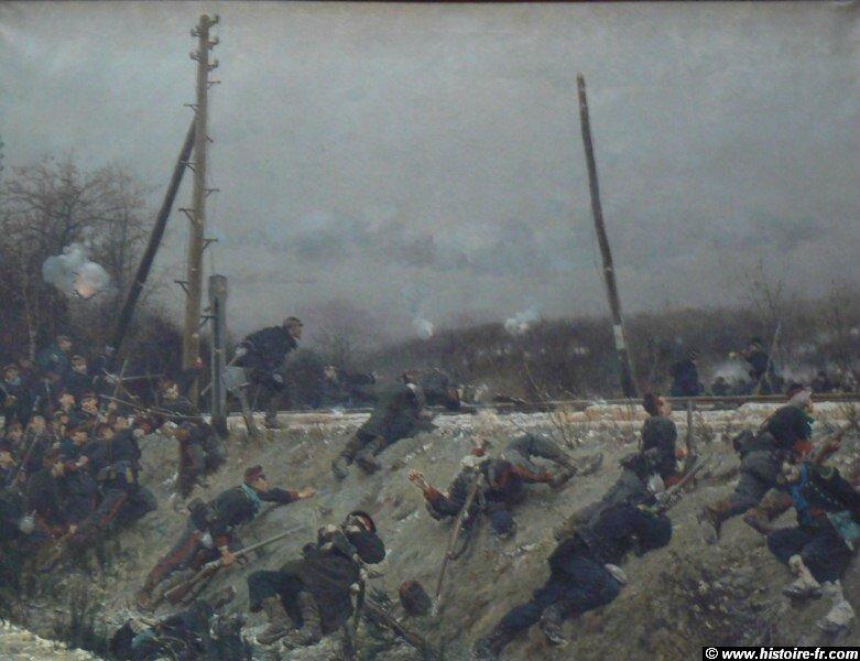 De Neuville, combat sur la voie ferrée (1873)