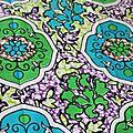 Wax médaillons vert turquoise