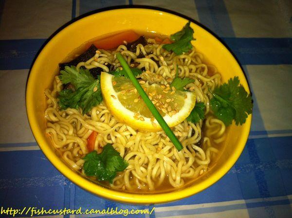 Soupe de nouilles chinoises aux crevettes (3)