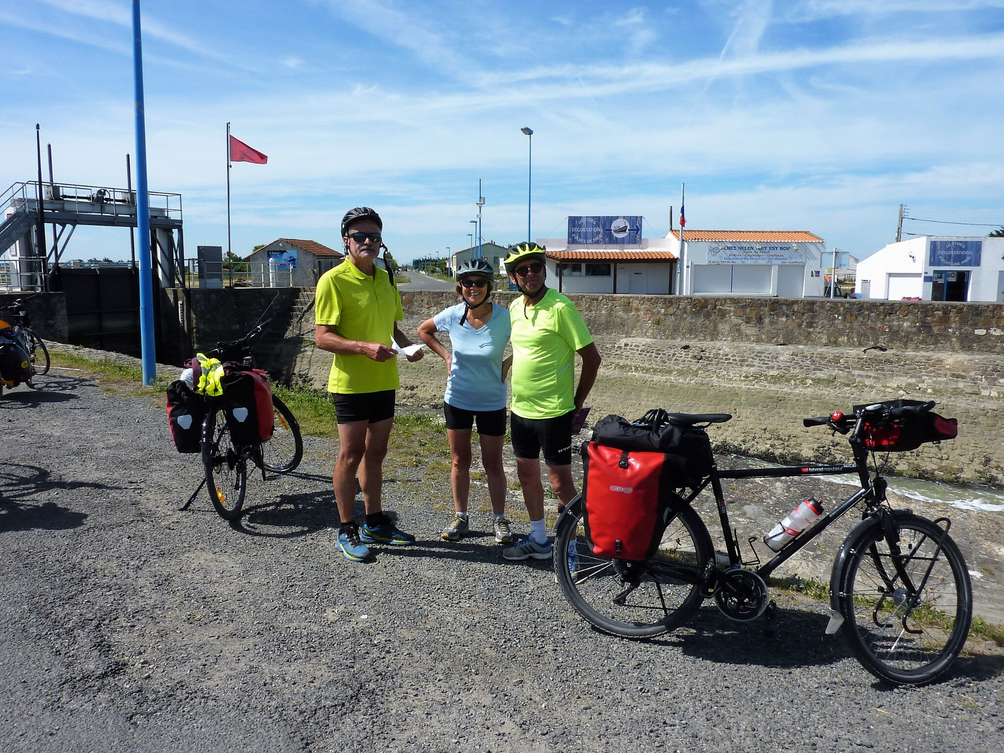 Départ pour la Vélodyssée le 25 Juin 2018 Arrivée