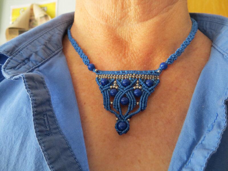 bijoux macramé collier