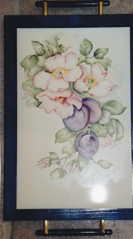 aquarelle de fleurs et fruits