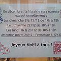 Horaires de décembre : joyeux noël !