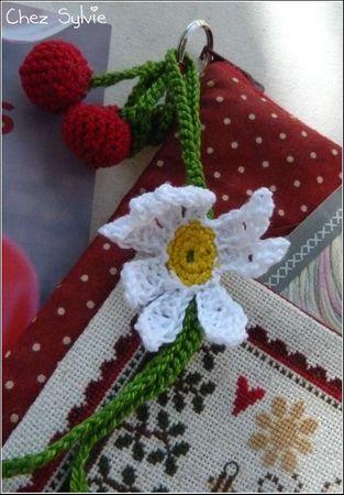 Détail fleur crochet