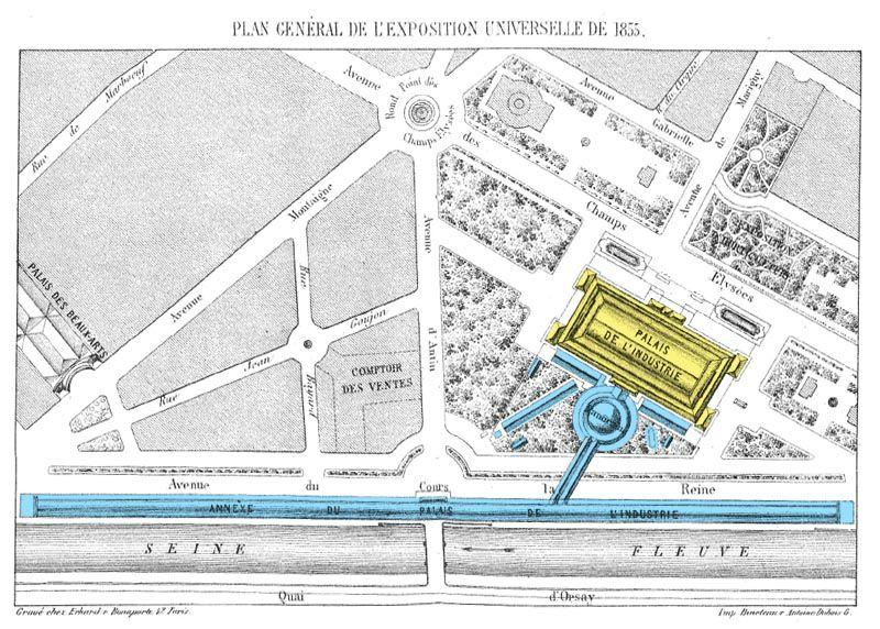 Exposition universelle 1855 Plan général