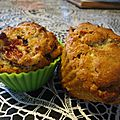 Muffins figues, coco et chocolat blanc